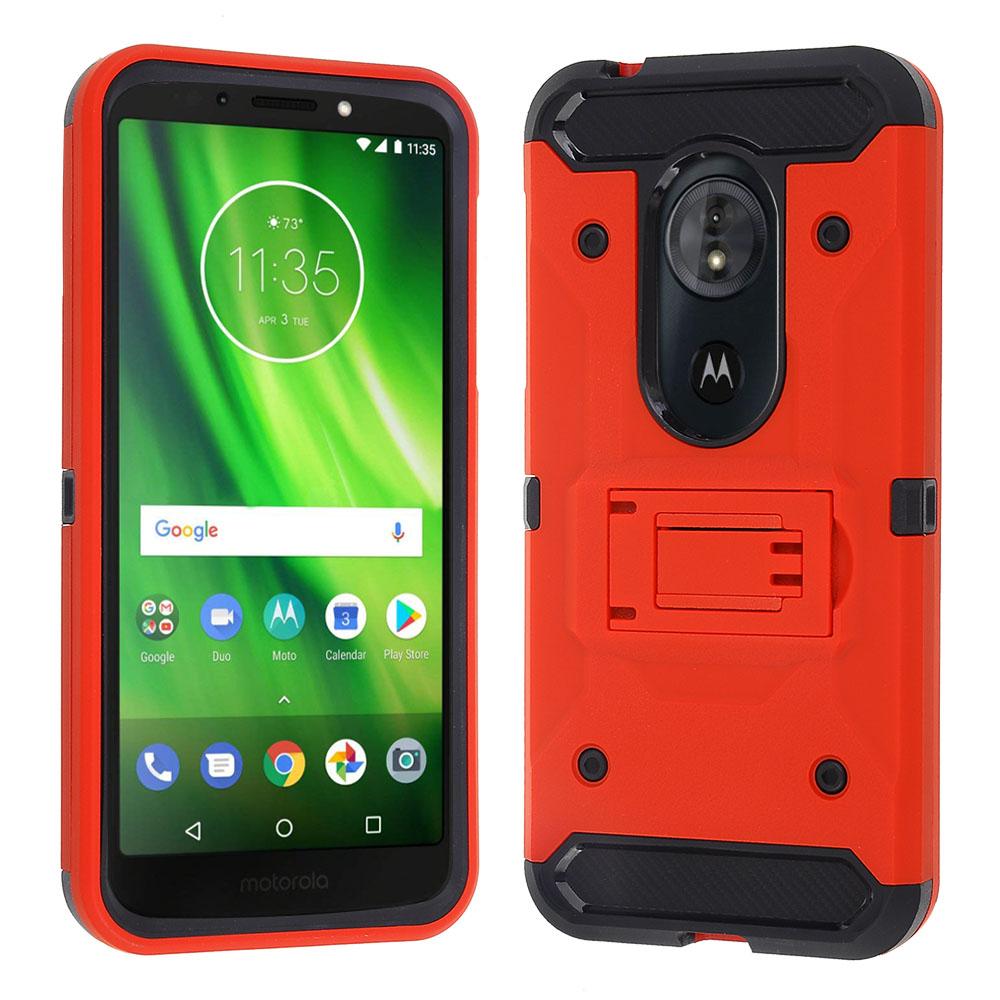 Motorola Moto G6 Play / G6 Forge - Red Colored Horizontal Hard Back