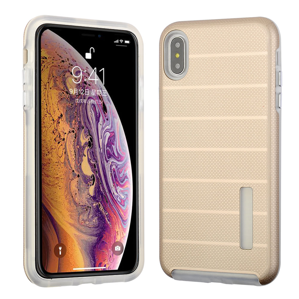Apple Iphone Xs Max Hybrid Slim Snap On Rose Gold Color Pc