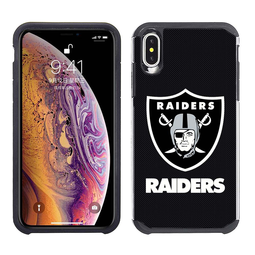 new arrival 50a21 faba6 Apple iPhone Xs Max - NFL Licensed Oakland Raiders Black Textured ...