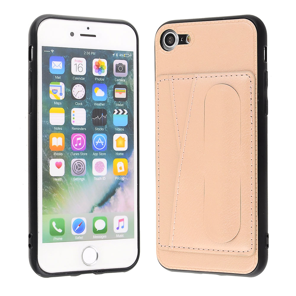 Apple Iphone 8 Iphone 7 Rose Gold Leather Credit Card