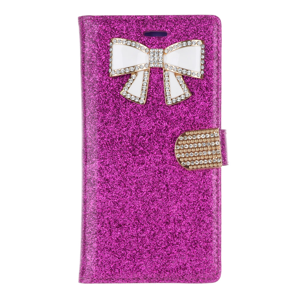 LG V10 (AT&T, T-Mobile, Verizon) - Purple Glitter Case With