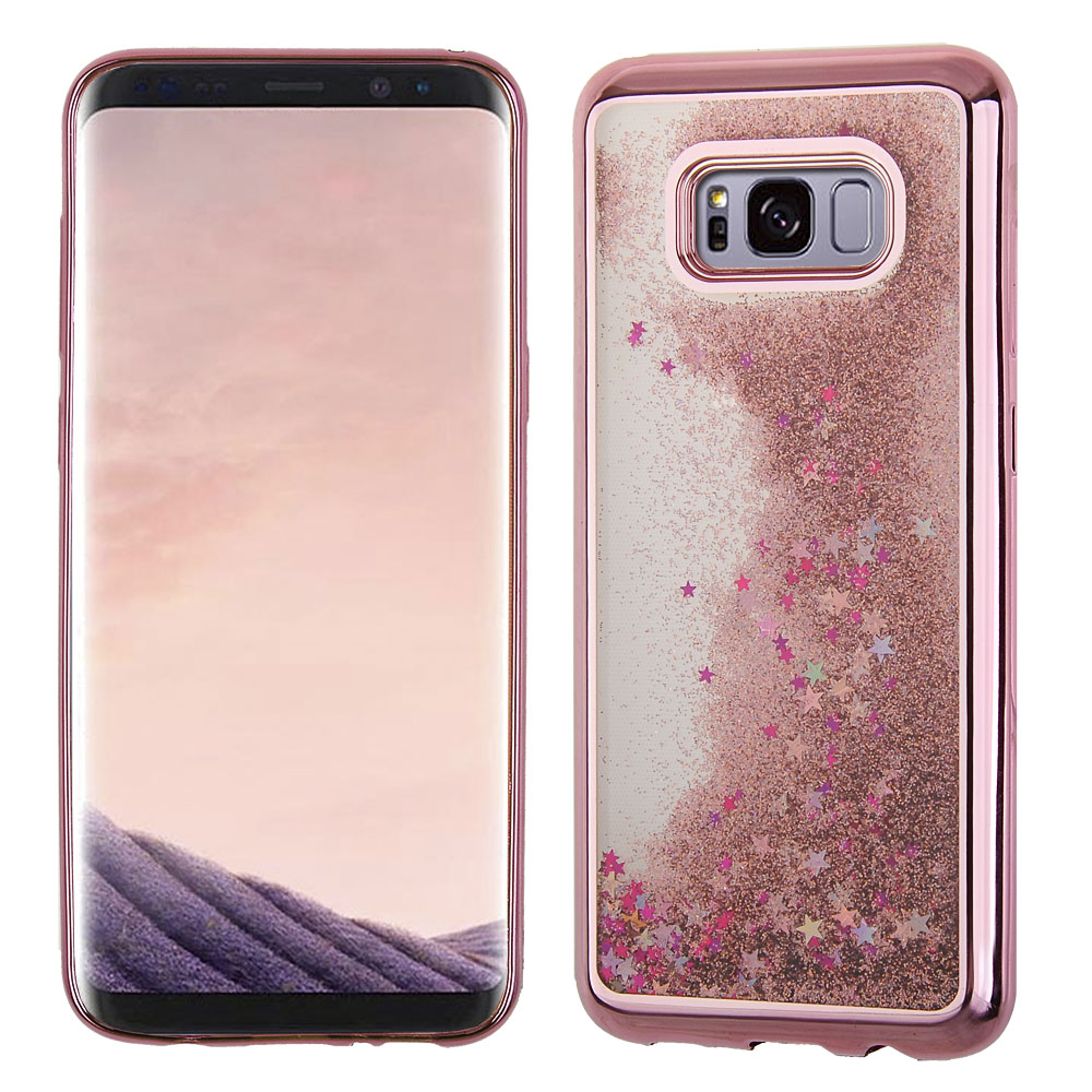 buy popular e11b0 a2dc6 Samsung Galaxy S8 Plus - Liquid Glitter Hearts filled Case with ...