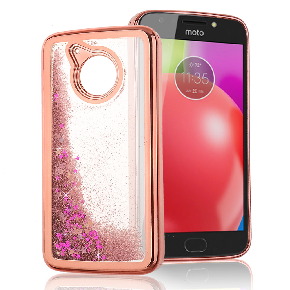 4be06d68cfa8 Motorola Moto G5  Moto E4 - Liquid Glitter Hearts filled Case with ...