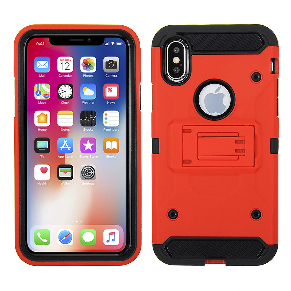 outlet store d045a ee726 Apple iPhone X / iPhone Xs - Red Colored Horizontal Hard Back ...
