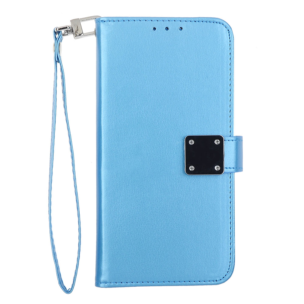 uk availability 5a899 10e4e LG X Power 2/ LV7 / X Charge - Blue Tailored Leather Wallet Case ...