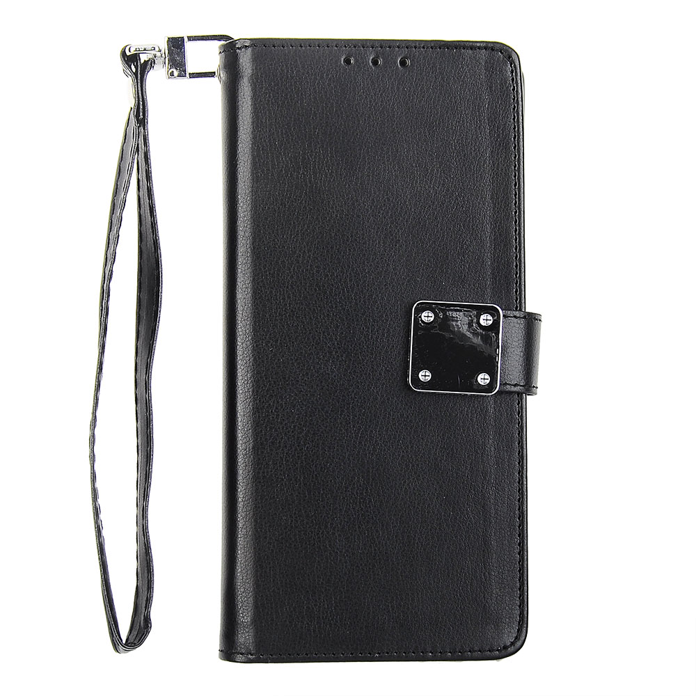 quality design b18da 25bcc Samsung Galaxy Note 8 - Black Tailored Leather Wallet Case with ...